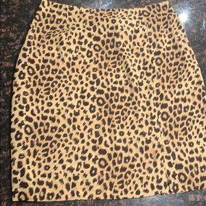 Liz Claiborne Leopard Skirt